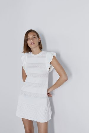 Zara Pointelle jurk met volant