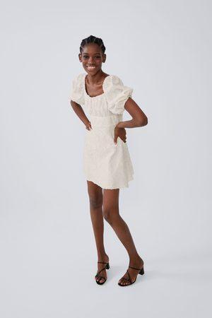 Zara Wijde jurk met structuur