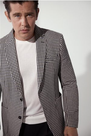 Zara Geruite blazer met structuur