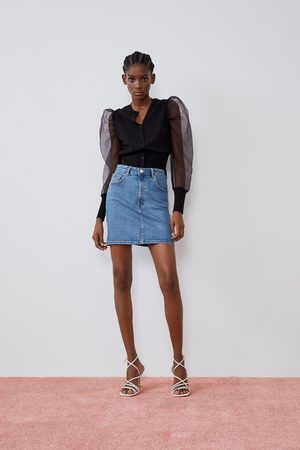 Zara Denim mini skirt