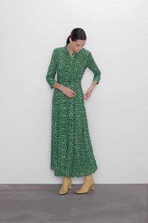 Zara Lange jurk met print