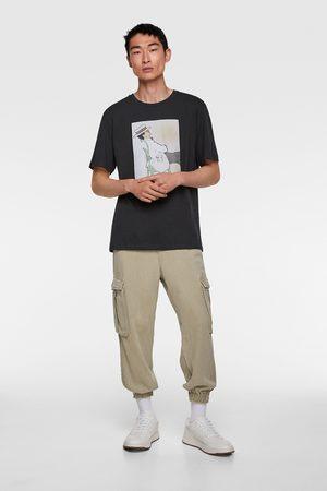 Zara Heren Shirts - T-shirt met illustratie © gruau collection