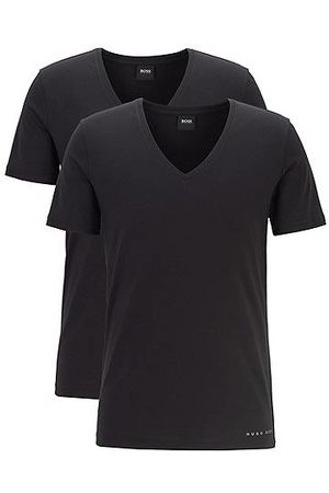 HUGO BOSS Heren Tops & Shirts - Slim-fit COOLMAX® T-shirt van een katoenmix