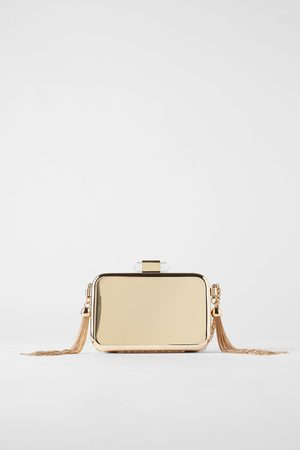 Zara Goudkleurige clutch