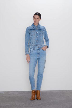 Zara Z1975 mom fit jeans met joya streep