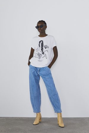 Zara T-shirt met tekst