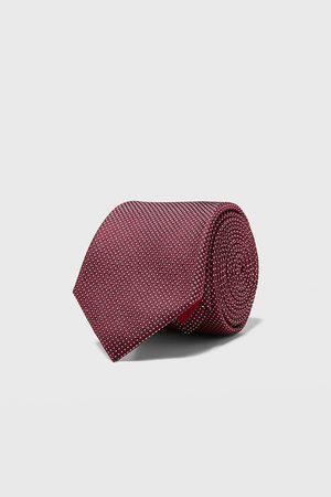 Zara Brede jacquard stropdas met geometrisch dessin