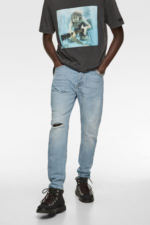 Zara Jeans in slim fit met scheuren