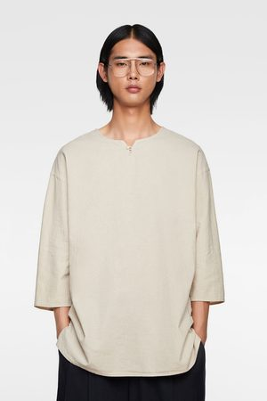 Zara Rustiek relaxed fit shirt