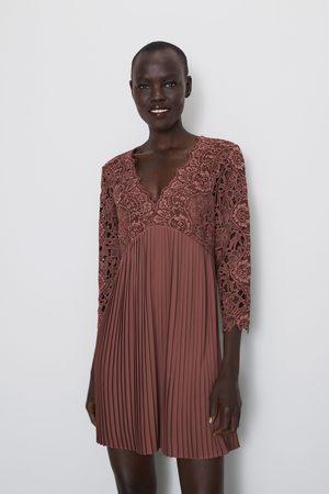 Zara Gecombineerde jurk met kant