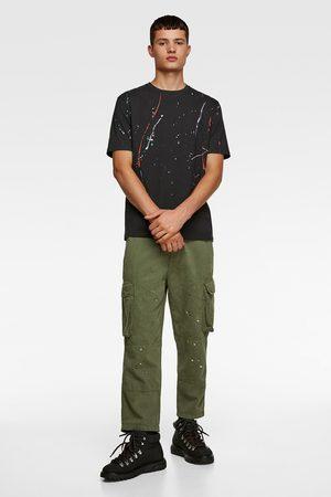 Zara T-shirt met verfspatten