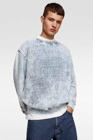 Zara Denim sweatshirt met structuur