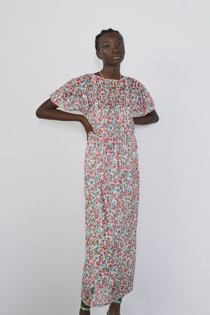 Zara Tule jurk met bloemenprint