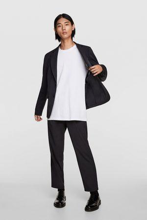 Zara Gestreepte kostuumblazer met structuur