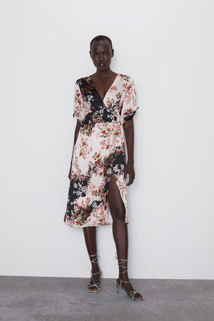 Zara Dames Geprinte jurken - Jurk met bloemenprint en volant
