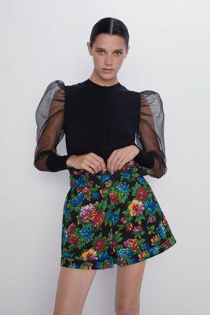 Zara Bermuda met bloemenprint