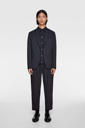 Zara Heren Pantalons - Gestreepte kostuumbroek met structuur