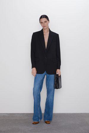 Zara Oversized blazer met knoop