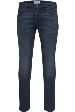 Only & Sons Heren Jeans - Onsloom Dark Blue Sweat Pk 3631 Noo: