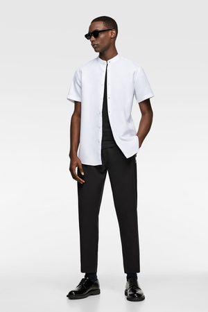 Zara Heren Overhemden - Gestructureerd overhemd met maokraag
