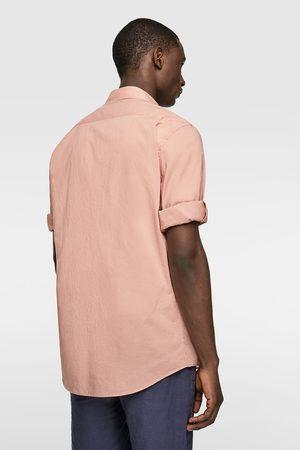 Zara Overhemd in relaxed fit met mouwophouders