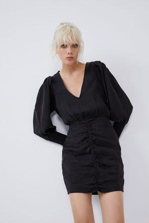 Zara Wijde jurk met plooien