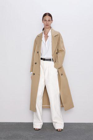 Zara Jeans zw premium worker palazzo white