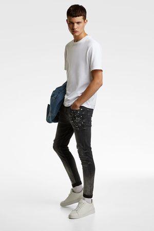 Zara Denim skinny fit in used look