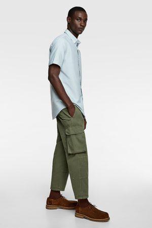 Zara Oxford overhemd met korte mouwen