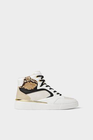 Zara Witte high-top sneakers