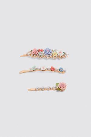 Zara Set haarspeldjes met bloemen