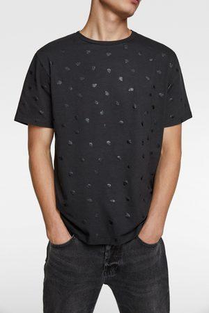 Zara T-shirt met doodshoofdenprint