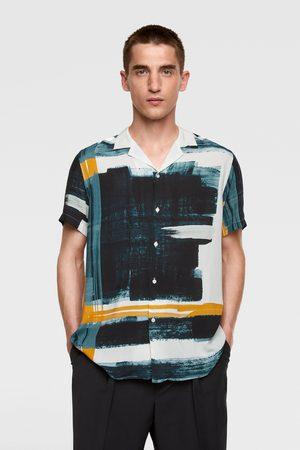 Zara Overhemd met abstracte print