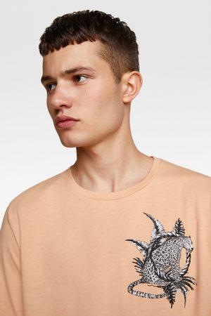 Zara Gecombineerd t-shirt met borduurwerk