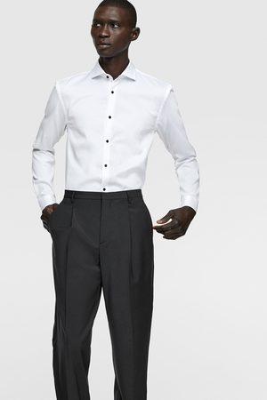 Zara Overhemd met structuur en knopen