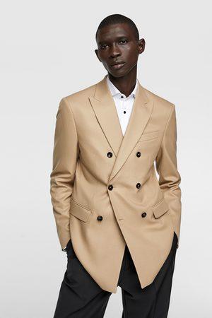 Zara Double-breasted blazer met structuur