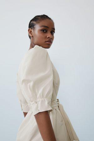 Zara Dames Riemen - Wijde jurk met ceintuur