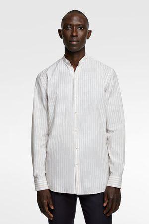 Zara Rustiek gestreept overhemd