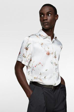 Zara Heren Overhemden - Satijnachtig overhemd met bloemenprint