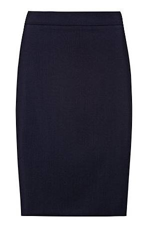 HUGO BOSS Slim-fit rok van lichtgekamde stretchwol