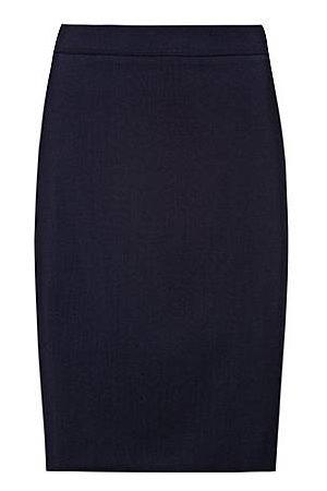 HUGO Dames Kokerrokken - Slim-fit rok van lichtgekamde stretchwol