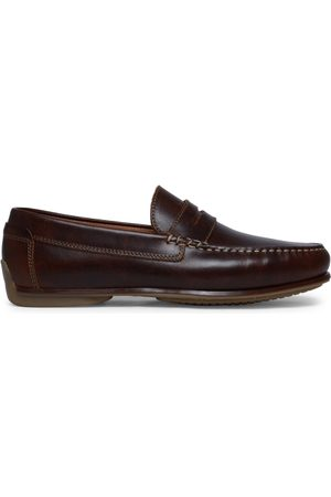 Manfield Cognac mocassins leer