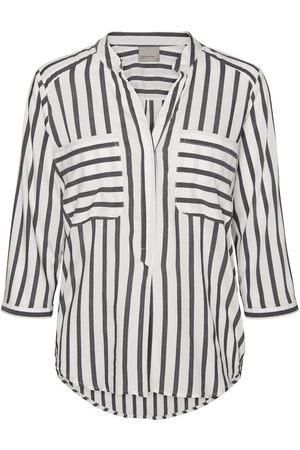 Vero Moda Gestreepte Shirt Met 3/4 Mouwen Dames White