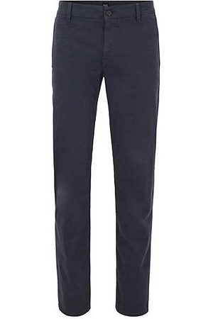 HUGO BOSS Regular-fit broek van geborstelde stretchkatoen