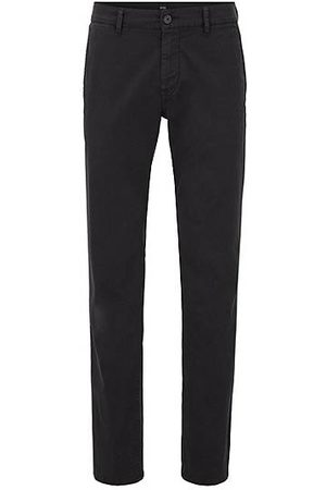HUGO BOSS Heren Chino's - Regular-fit casual chino van geborstelde stretchkatoen