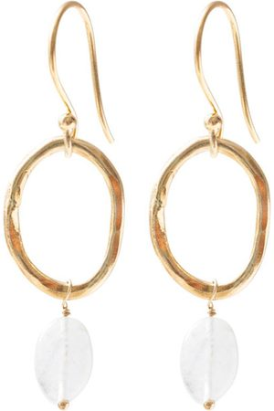A Beautiful Story Oorbellen Graceful Moonstone Gold Earrings
