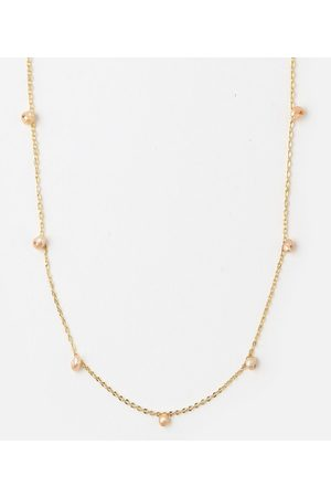 Orelia Kettingen Fine SP Stone Drop Short Neckless Goudkleurig