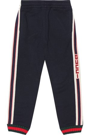 Gucci Logo-taped cotton trackpants