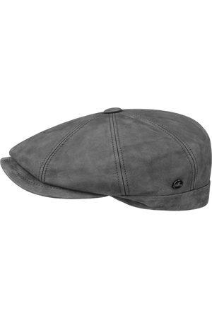 Lierys Heren Petten - Nappaleer Wax Flat Cap by