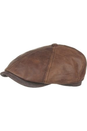 Stetson Brooklin Leren Flat Cap by